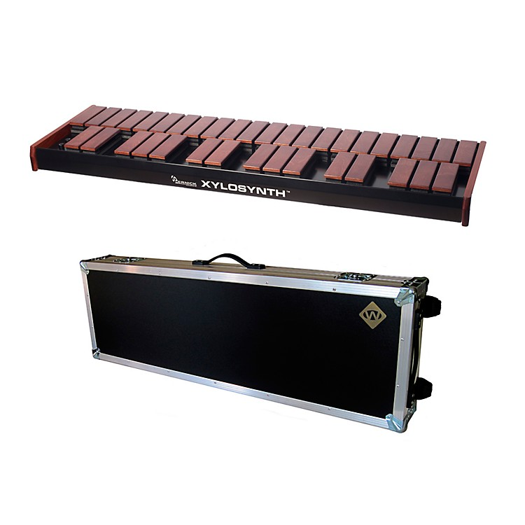 WernickMkVI Stained Birch Xylosynth w/LED Display, Flight Case and Accessories