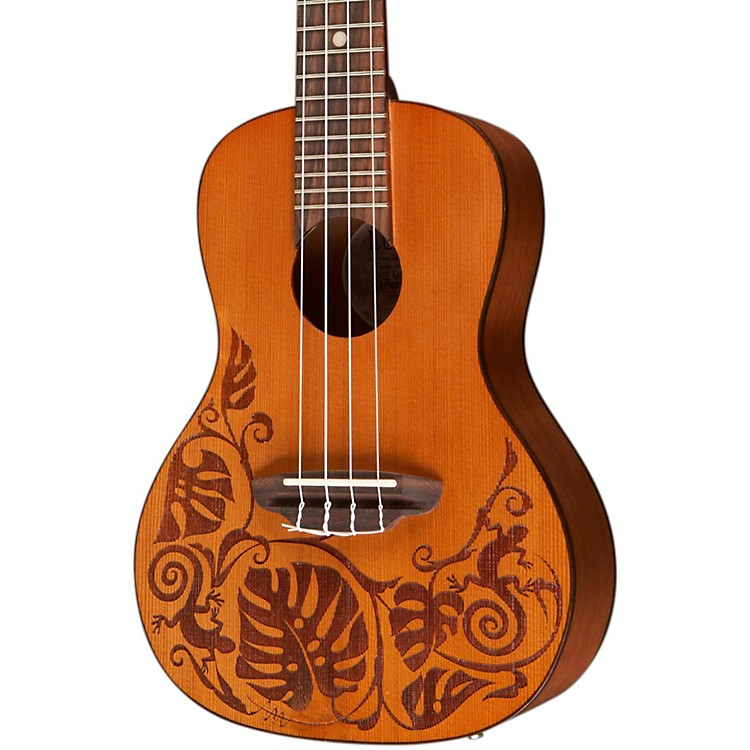 Luna GuitarsMo Mah Concert UkuleleCedarLizard Design