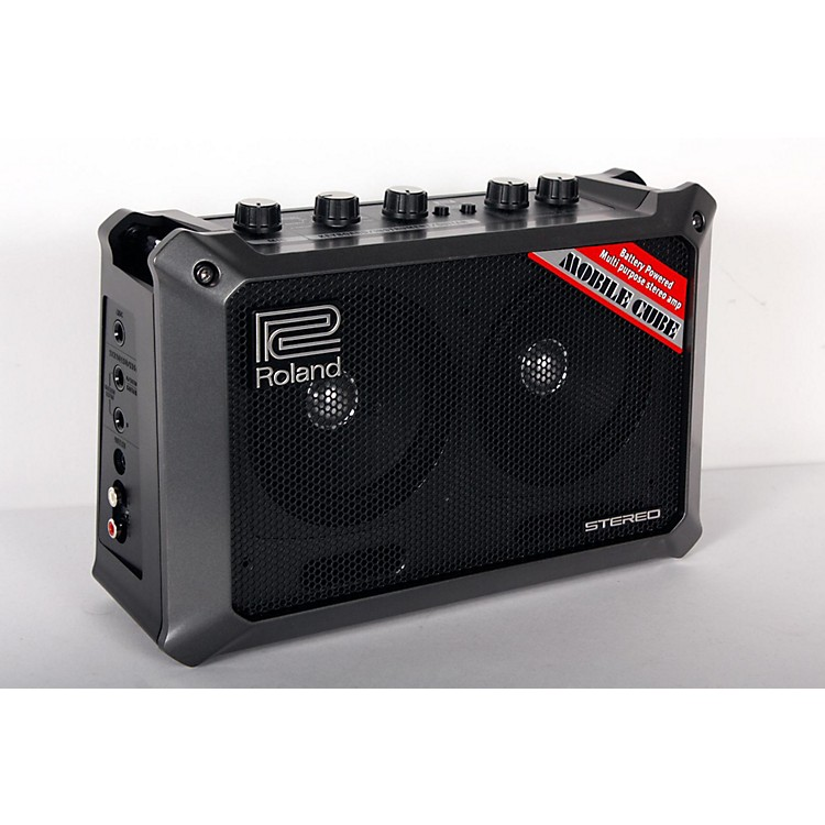 Roland Mobile Cube Battery-Powered Stereo Guitar Combo Amp Black 888365849744