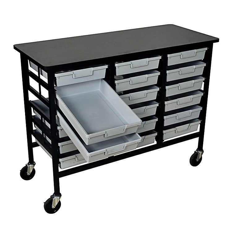 H. Wilson Mobile Workstation/ Storage Unit with 18 Single Storage Trays