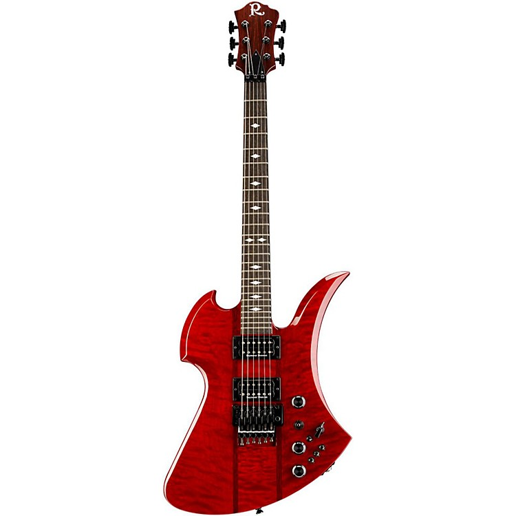 B.C. Rich Mockingbird SL Deluxe Electric Guitar Transparent Red