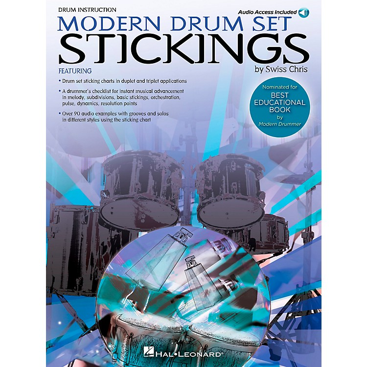 Hal Leonard Modern Drum Set Stickings Book/CD