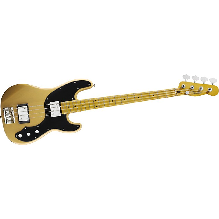 Fender Modern Player Telecaster Electric Bass Guitar Butterscotch Blonde Maple Fretboard