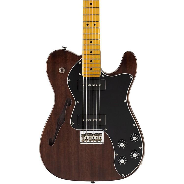 FenderModern Player Telecaster Thinline Deluxe Electric GuitarBlack TransparentMaple Fretboard