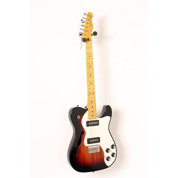 fender modern player telecaster thinline deluxe electric guitar 3 color sunburst maple