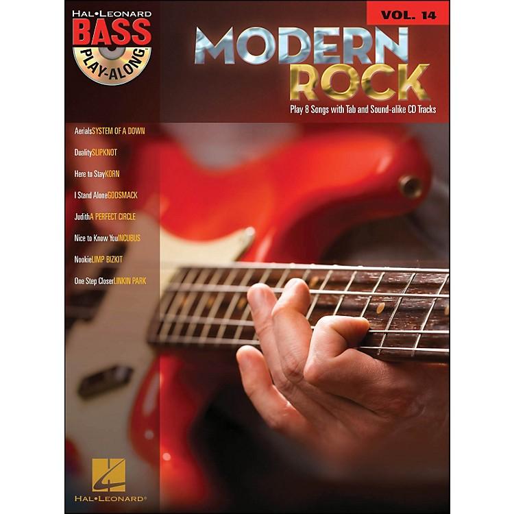Hal Leonard Modern Rock Bass Play-Along Volume 14 Book/CD