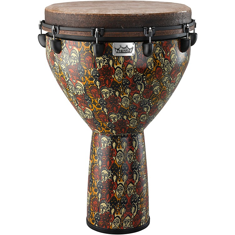 Remo Mondo Designer Series Key-Tuned Djembe Multi-Mask 28 x 18 in.