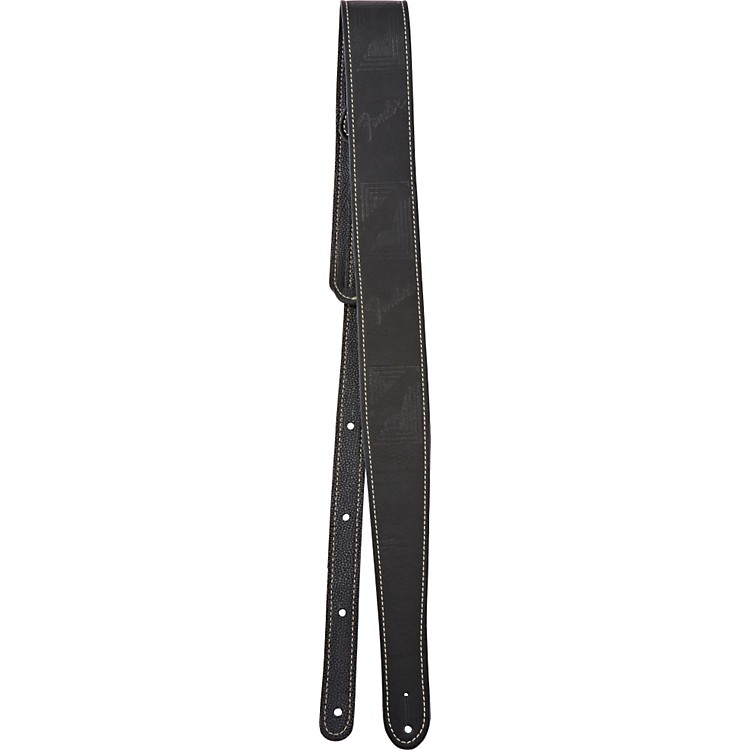 Fender Monogrammed Leather Guitar Strap Black