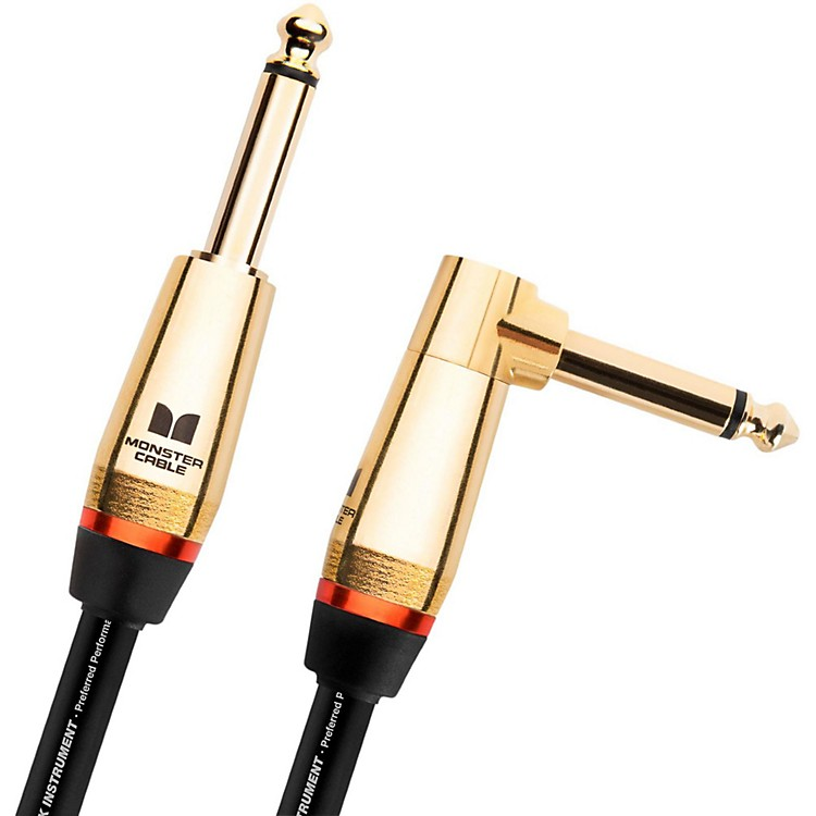 Monster CableMonster Rock 1/4 Inch Angled to Straight Instrument Cable