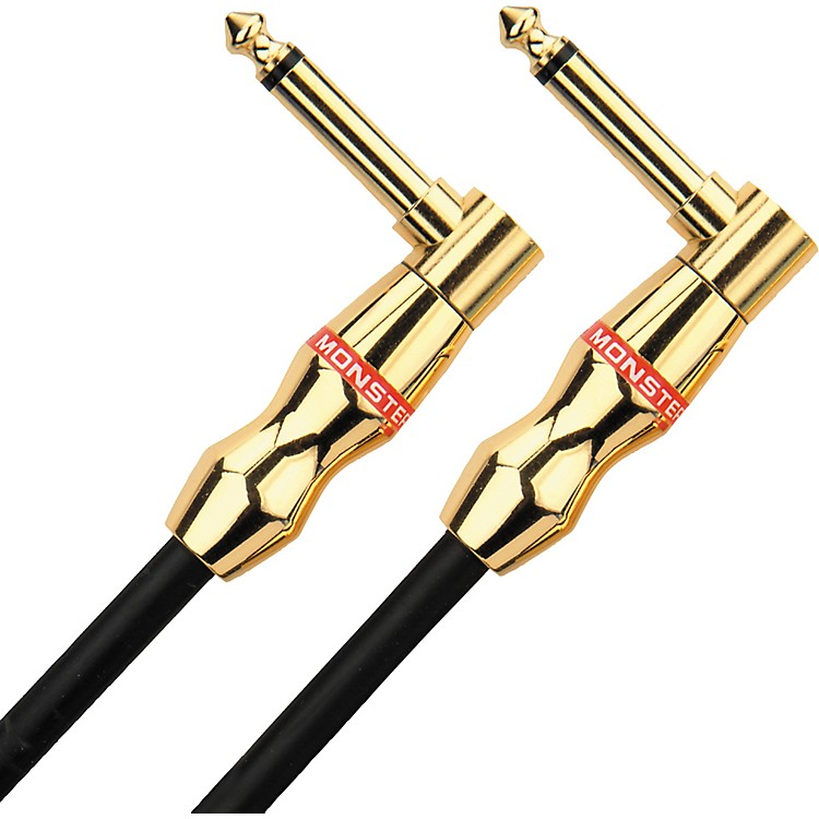 Monster Legacy Monster Rock Instrument Cable Angled-Angled  1.5 Foot