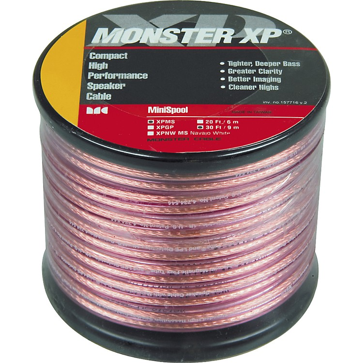 Monster Cable Monster XP Clear Jacket Compact Speaker Cable MKII Mini Spool 30 Feet