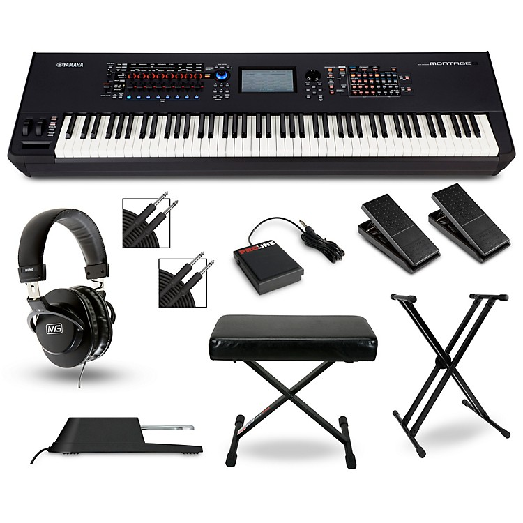 Yamaha montage 8 88 key synthesizer with stand pedals for Yamaha montage 8 case