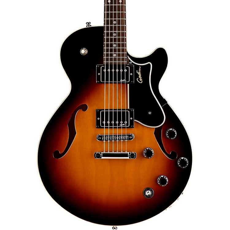 godin montreal premiere tripleplay hollowbody guitar sunburst music123. Black Bedroom Furniture Sets. Home Design Ideas