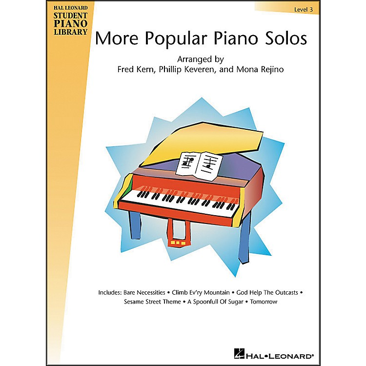 Hal LeonardMore Popular Piano Solos Book 3 Hal Leonard Student Piano Library