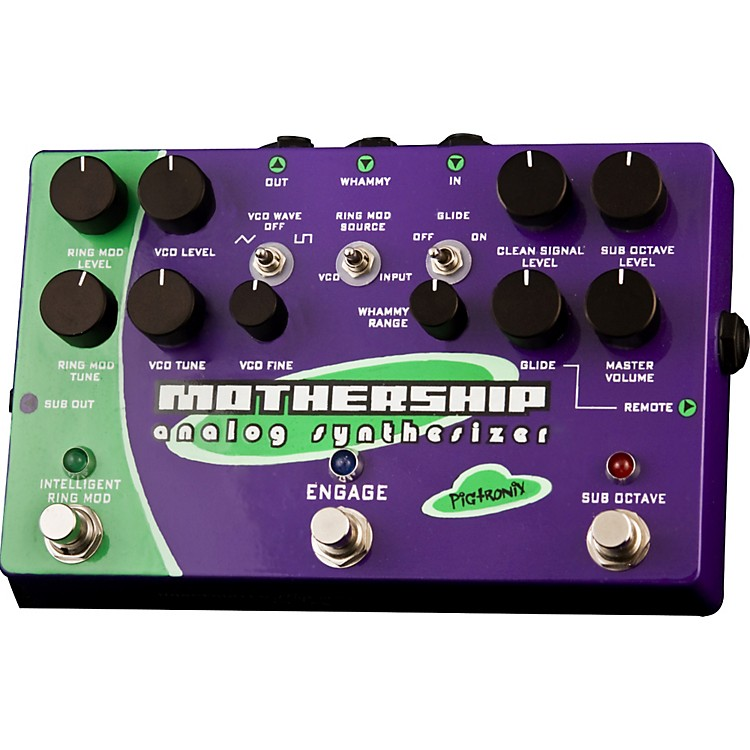 PigtronixMothership Analog Synthesizer Guitar Effects Pedal