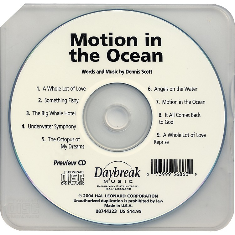 Hal Leonard Motion In The Ocean