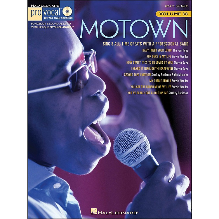 Hal LeonardMotown - Pro Vocal Songbook Volume 38 Men's Edition Book/CD