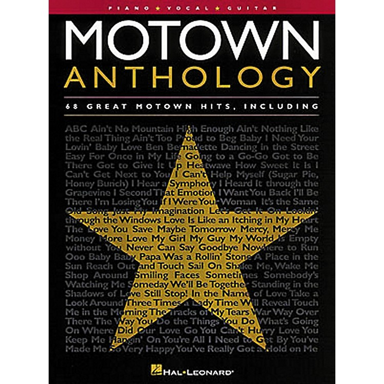 Hal Leonard Motown Anthology Piano, Vocal, Guitar Songbook