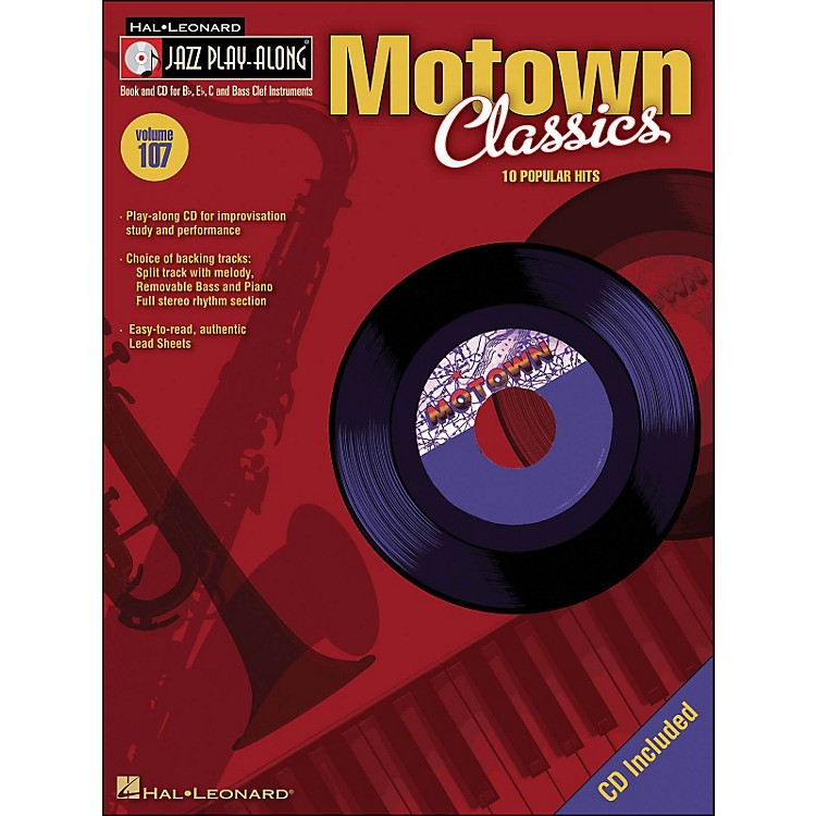 Hal Leonard Motown Classics - Jazz Play-Along Volume 107 (CD/Pkg)