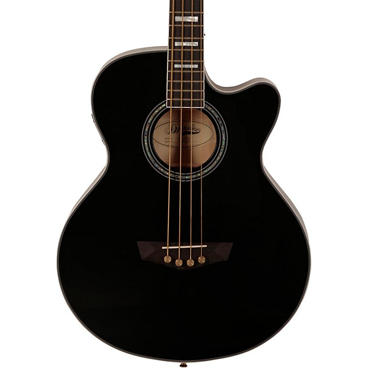 D'Angelico Mott Cutaway Acoustic Bass Black