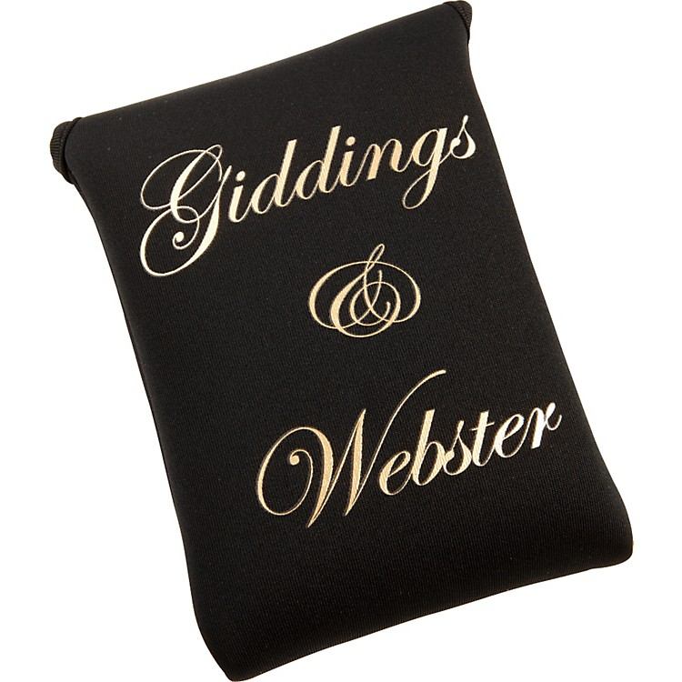 Giddings & WebsterMouthpiece PouchBlackNeoprene