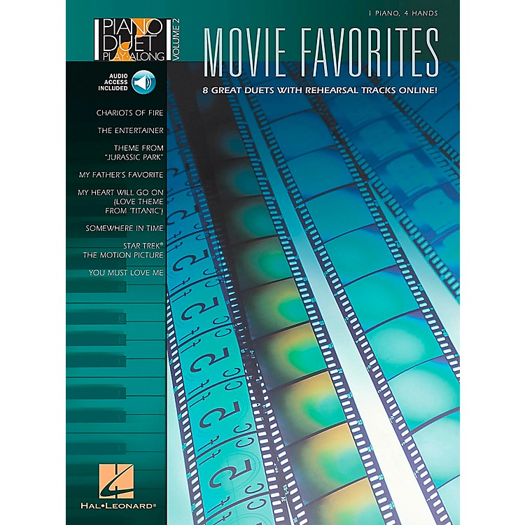 Hal LeonardMovie Favorites Piano Duet Play-Along Volume 2 Book/CD