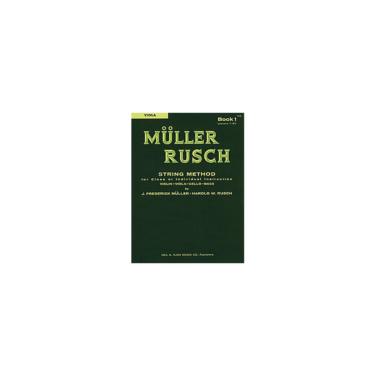 KJOS Muller-Rusch String Method 1 Viola Book