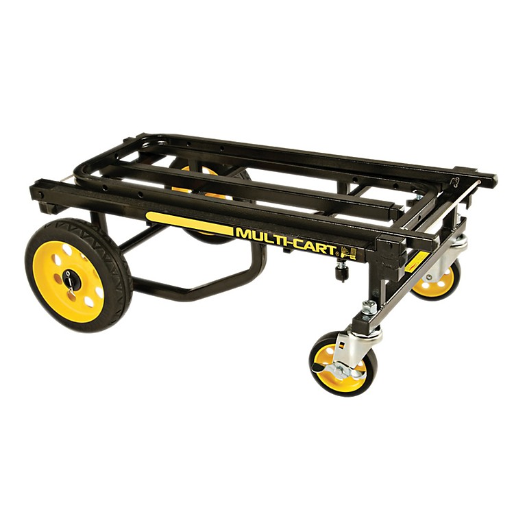 Rock N Roller Multi-Cart 8-in-1 Equipment Transporter Cart Black Frame/Yellow Wheels Mid
