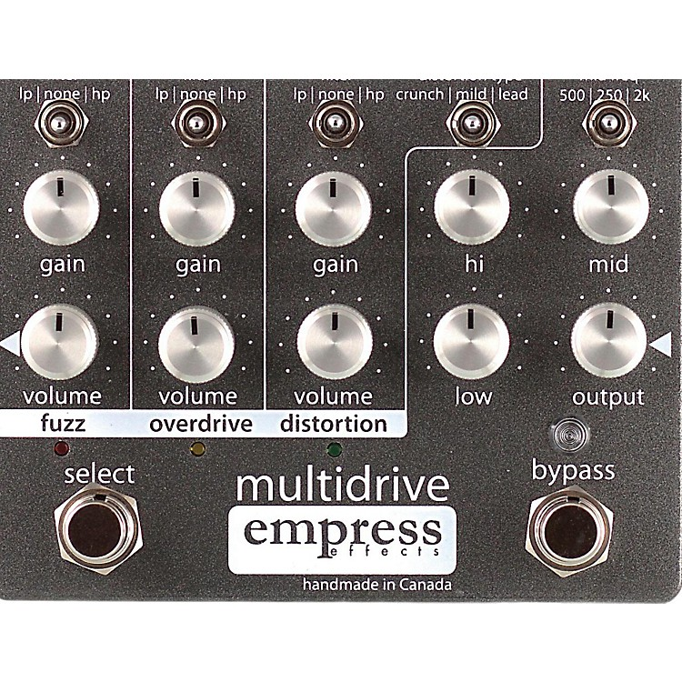 Empress Effects Multidrive Overdrive Guitar Effects Pedal