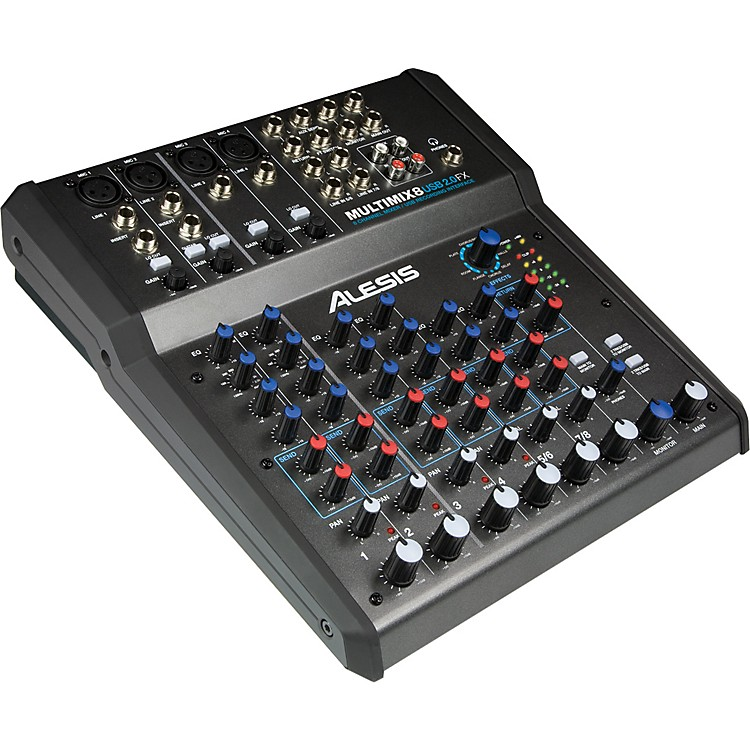 Alesis Multimix 8 USB 2.0 FX 8-Channel Mixer with FX and 24-bit recording