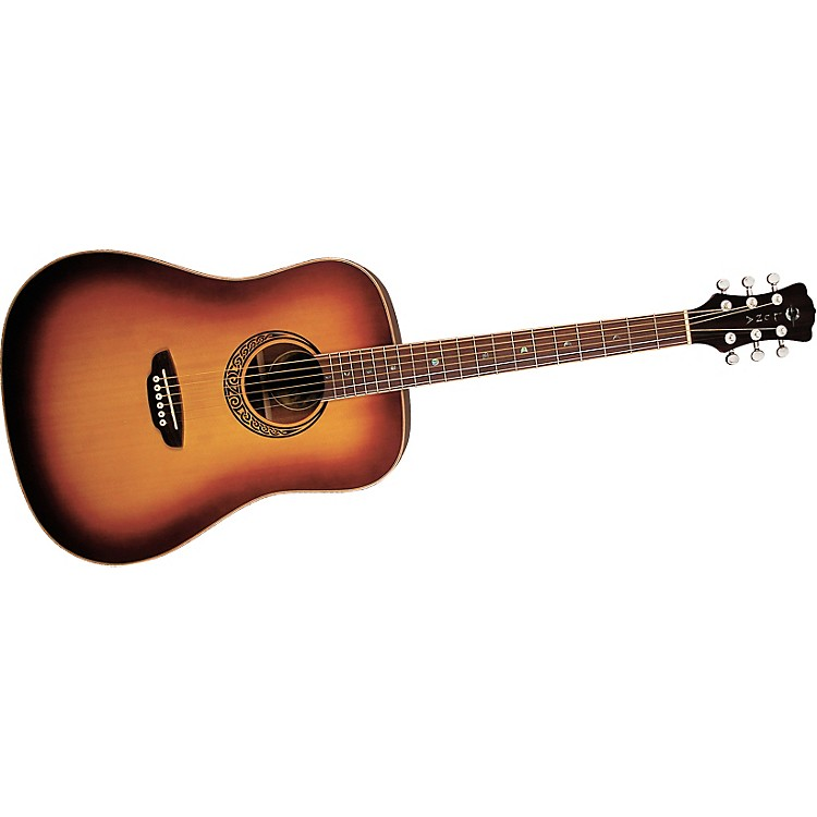 Luna Guitars Muse M Dreadnought Acoustic Guitar Satin Burst