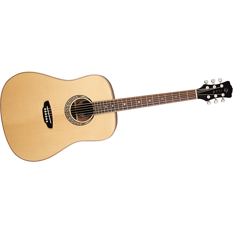 Luna Guitars Muse M Dreadnought Acoustic Guitar Satin Natural