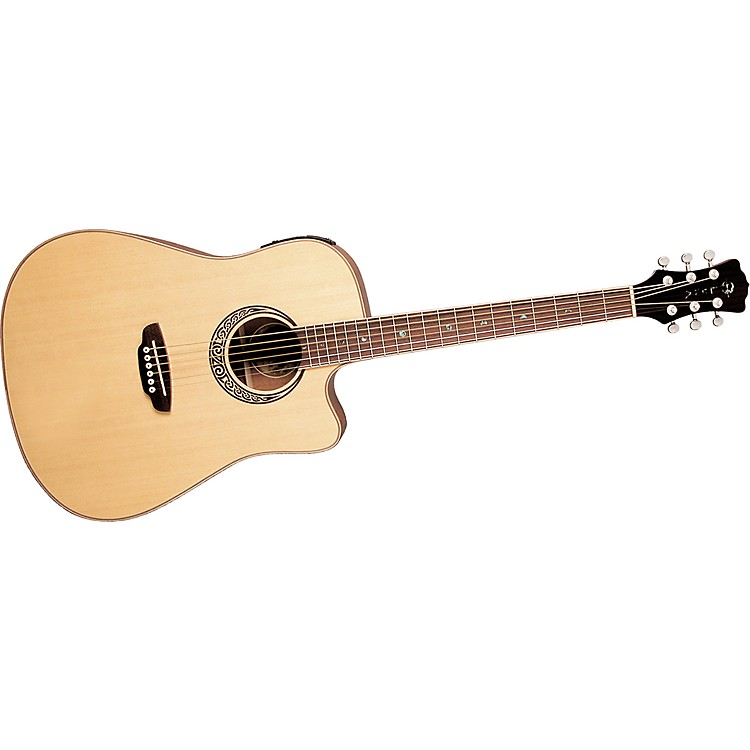 Luna GuitarsMuse QA Quilted Ash Dreadnought Cutaway Acoustic-Electric Guitar