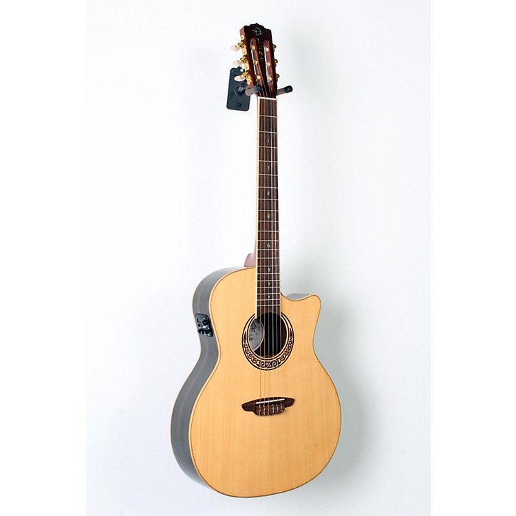 Luna Guitars Muse Series Folk Cutaway Nylon-String Acoustic-Electric Guitar Natural 888365822679