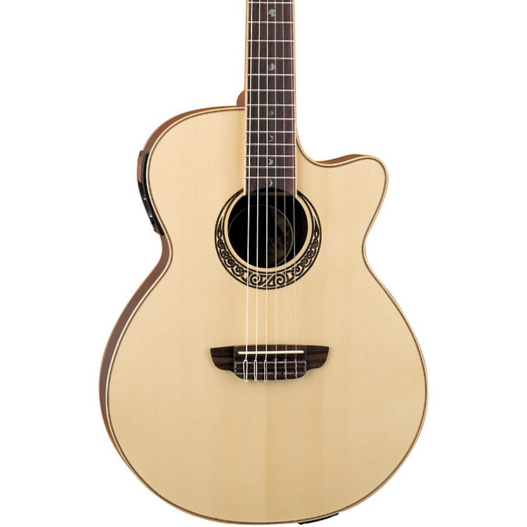 Luna Guitars Muse Series Folk Cutaway Nylon-String Acoustic-Electric Guitar Natural