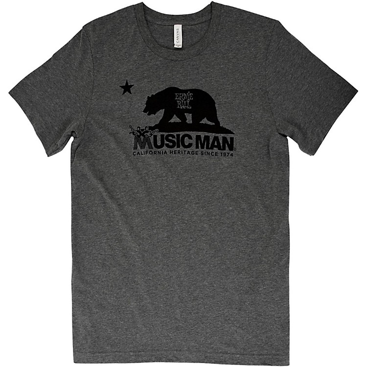 Ernie Ball Music ManMusic Man Bear T-ShirtSmallHeather Gray