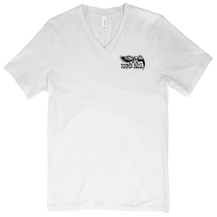 Ernie BallMusic Man Eagle V-Neck T-ShirtLargeWhite