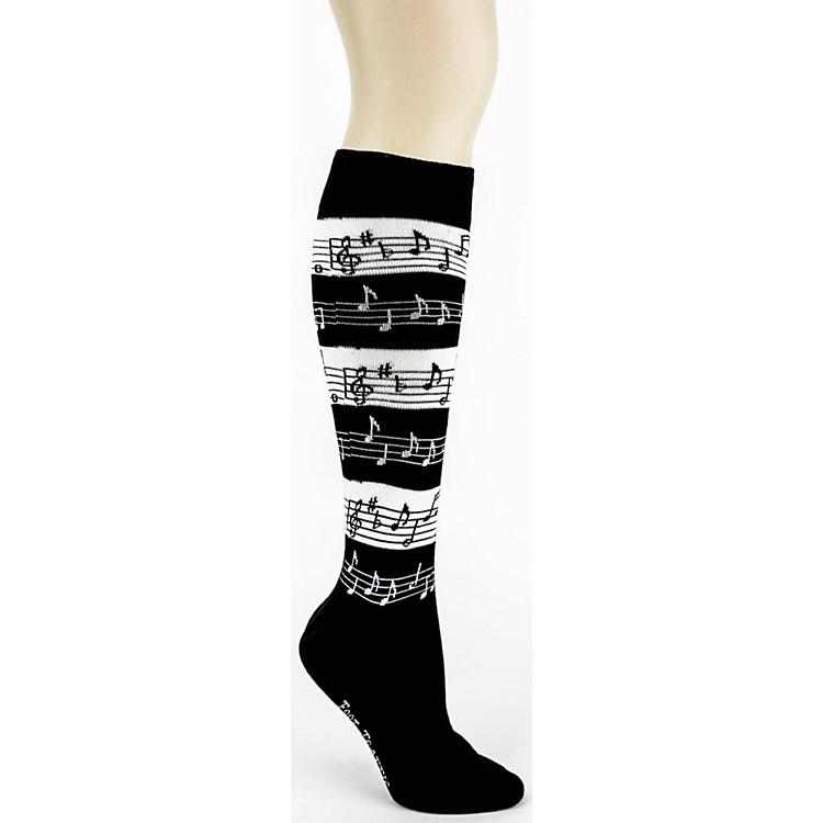 Foot TrafficMusic Stripe Knee High Socks