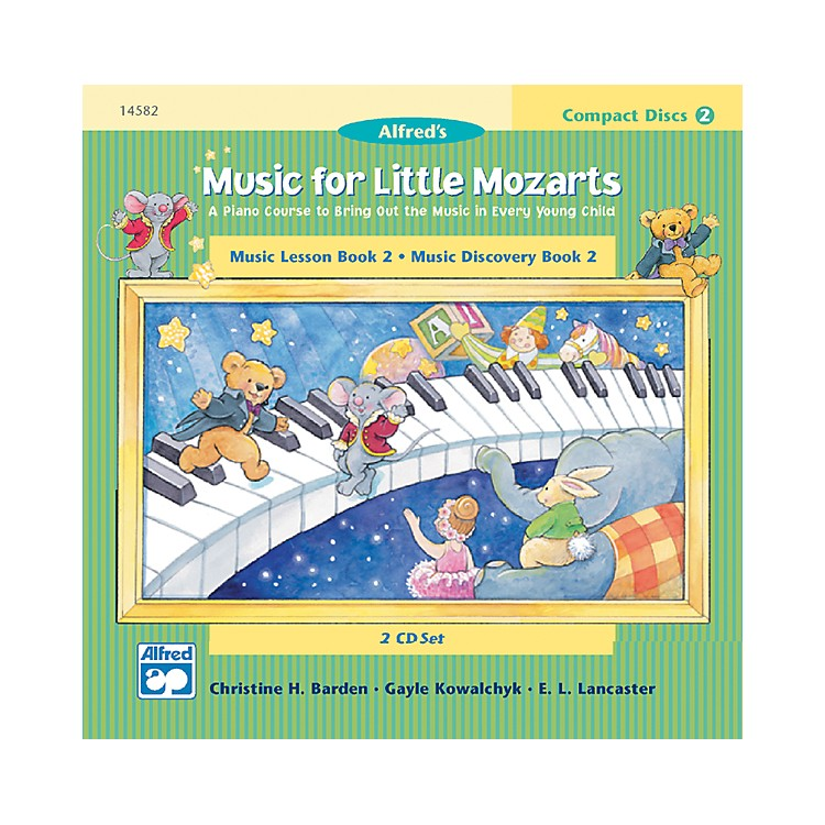 AlfredMusic for Little Mozarts CD 2-Disk Sets for Lesson and Discovery Books Level 2