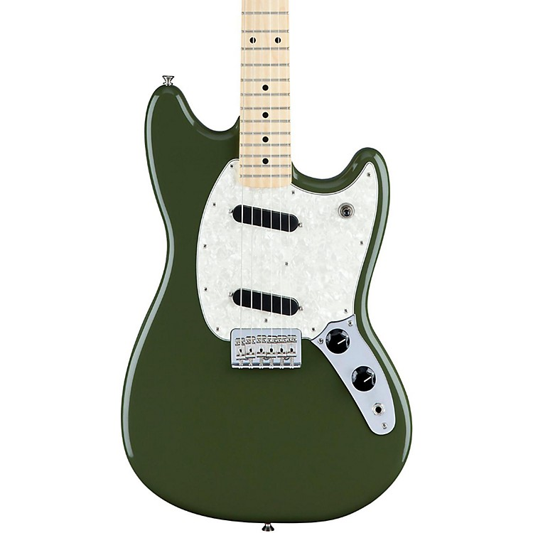 Fender Mustang Maple Fingerboard Olive Green
