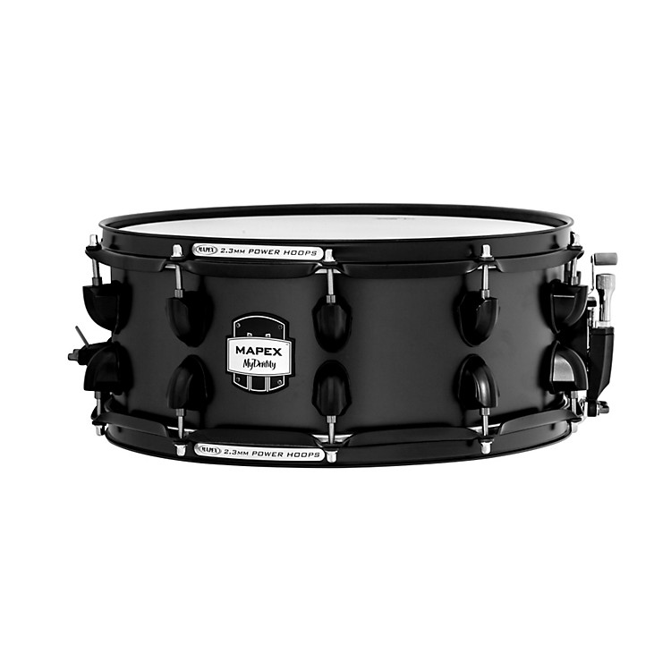 Mapex MyDentity Maple Snare Drum Flat Black on Flat Black 16 x 14 in.