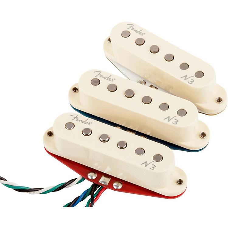 FenderN3 Noiseless Stratocaster Pickups Set of 3White Covers