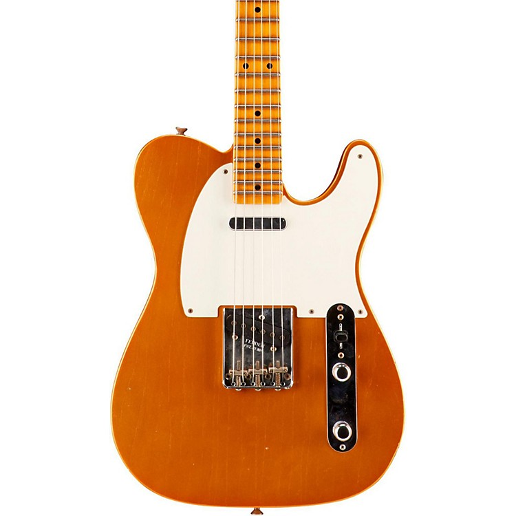 Fender Custom Shop NAMM Custom Built '55 Journeyman Relic Telecaster Electric Guitar, Maple Faded Candy Tangerine