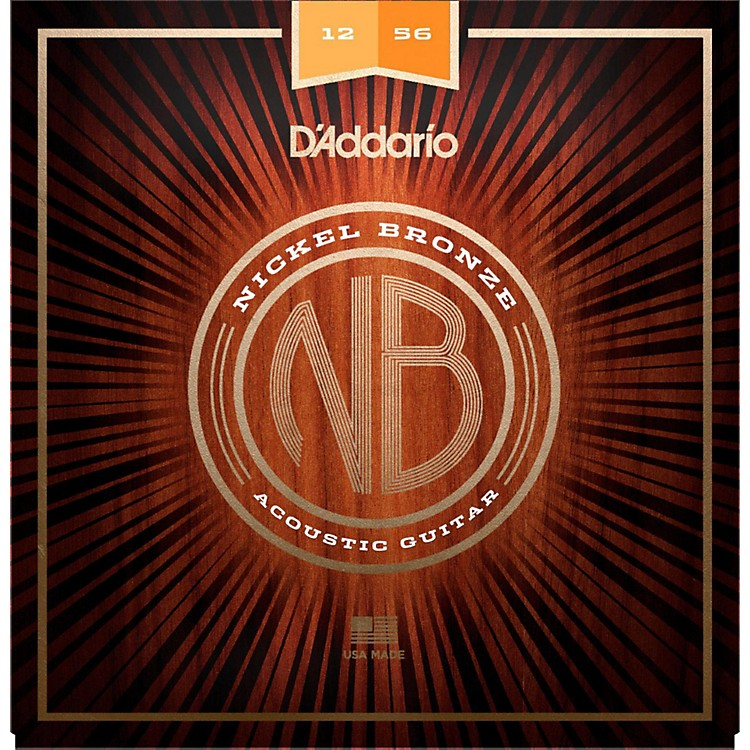 D'AddarioNB1256 Nickel Bronze Light Top Med Bottom Acoustic Strings