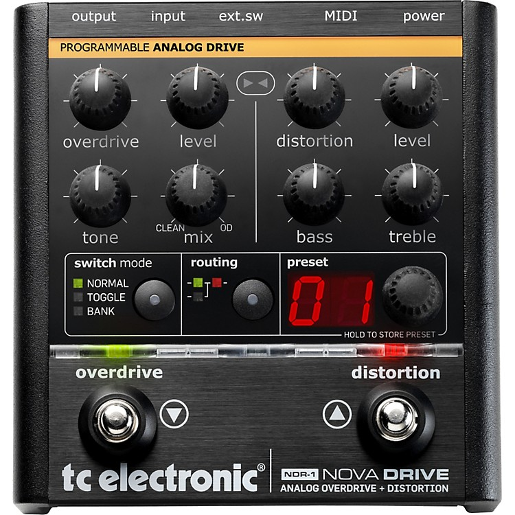 TC Electronic NDR-1 Nova Drive Overdrive and Distortion Guitar Effects Pedal
