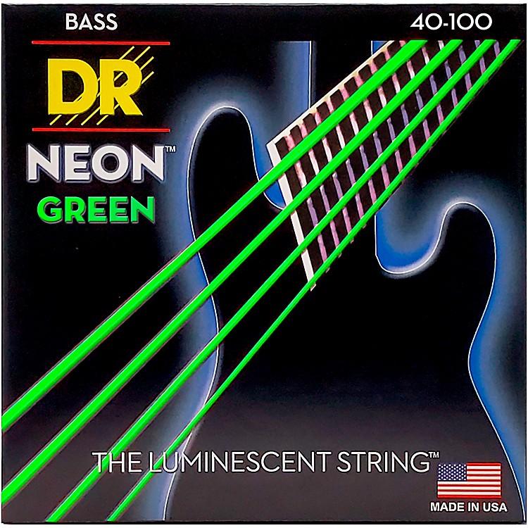 DR StringsNEON Hi-Def Green Bass SuperStrings Light 4-String
