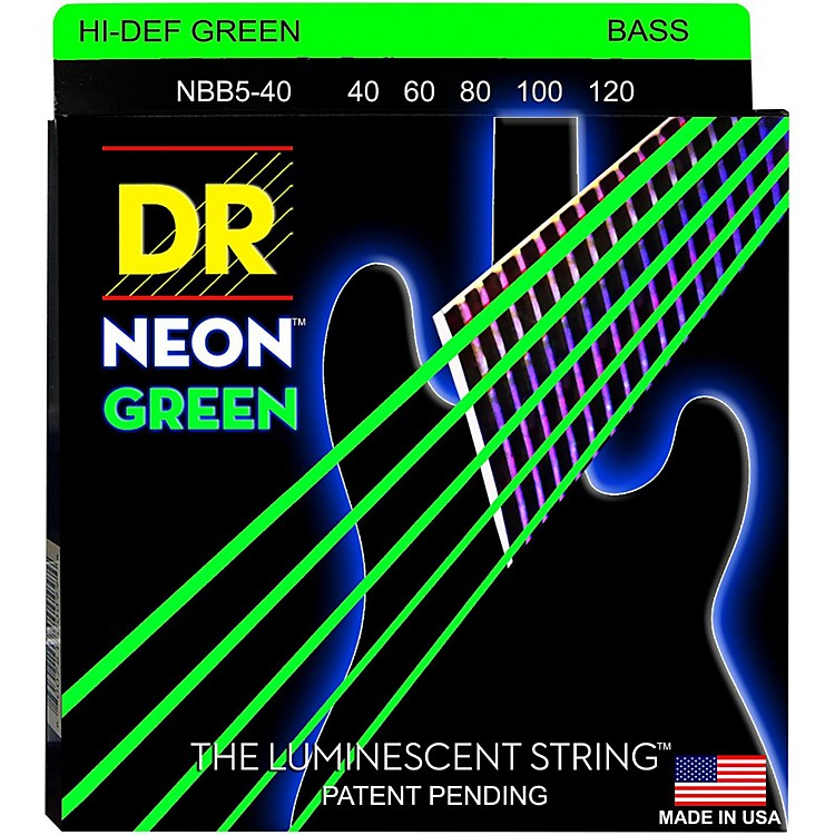 DR StringsNEON Hi-Def Green Bass SuperStrings Light 5-String