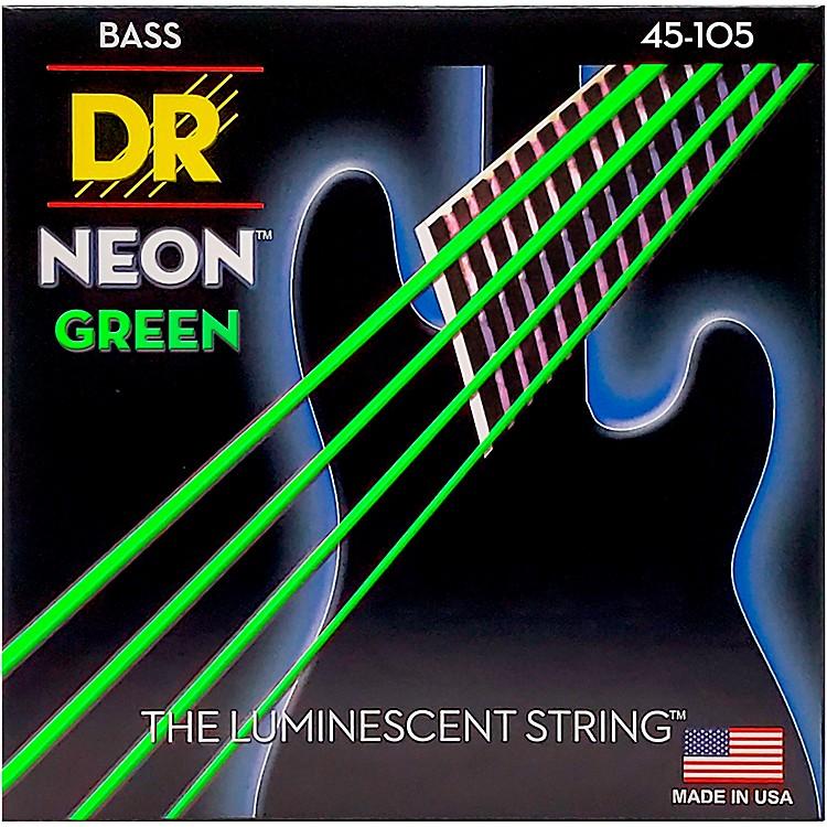 DR StringsNEON Hi-Def Green Bass SuperStrings Medium 4-String