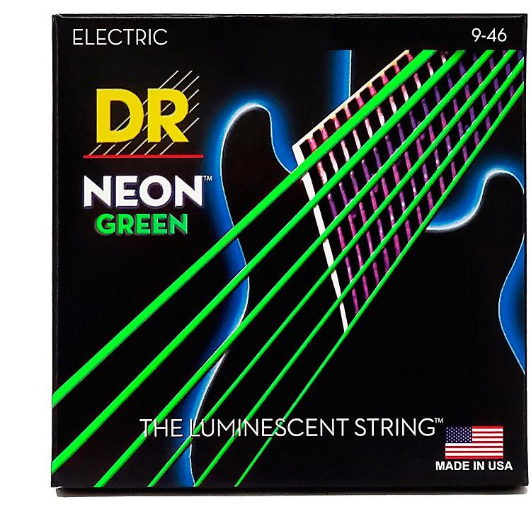 DR StringsNEON Hi-Def Green SuperStrings Light Top Heavy Bottom Electric Guitar Strings