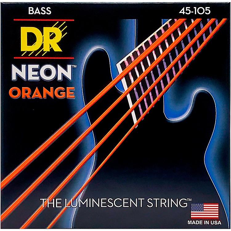 DR StringsNEON Hi-Def Orange Bass SuperStrings Medium 4 String